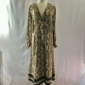 H&M snake print dress size 16